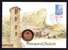 1988 Andorra Stamp & Coin Cover Architecture Buildings Nature Theme