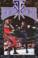 POSTER:  WRESTLING : UNDERTAKER  - WWF - COLLAGE - FREE SHIPPING  #3443   RP61 M