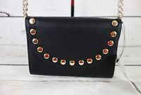 NEW Nine West Aleksei Embellished Convertible Clutch Crossbody Bag Black