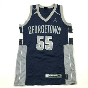 Jordan Georgetown Hoyas Basketball Jersey Size Medium M Blue Gray Tank Top Nike