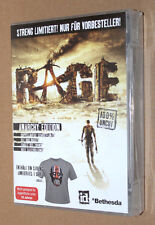 Rage Video game Promo Preorder Box includes T-Shirt Xbox 360 PS3 NO GAME size L