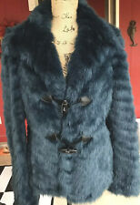 GUESS Chubby Faux Fur Deep Teal jacket size Large