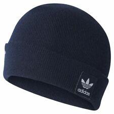 95adaf0b5d5 adidas ORIGINALS MEN S WOMEN S LOGO BEANIE BLUE NAVY TREFOIL WINTER WARM HAT