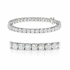 "White Gold Excellent 7 - 7.49"" VS2 Fine Diamond Bracelets"