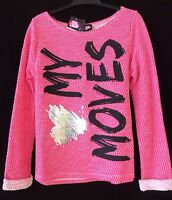 Kids Girls Pink Jumper Sweater Top 9 10 11 12 13 14 15 Years