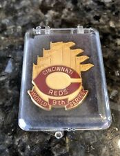 Authentic 1990 World Series Cincinnati Reds Press Pin Original Box