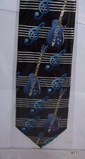 Le chitarre BLU E Note Musicali Cravatta