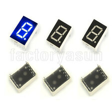"10PCS Blue 7 Segment 0.5"" LED Single Digit Digital Display Common Cathode"