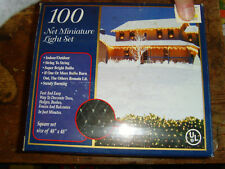 New 100 net Miniature Light Indoor Outdoor Christmas light set 2 Nib 48x48 in
