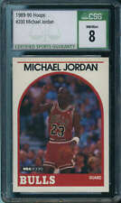 1989-90 NBA Hoops #200 Michael Jordan Chicago Bulls CSG 8