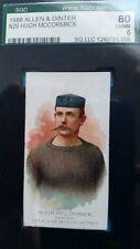 1888 N29 Allen & Ginter Cigarettes HUGH McCORMACK   Skater  SGC 80 (PSA 6)