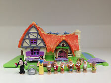 POLLY POCKET DISNEY Light UP Snow White & The Seven Dwarf *COMPLETE*