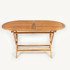 Outdoor Garden Furniture FSC Wooden Acacia Oval Garden Patio Picnic Table