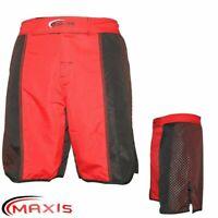 Muay Thai Kickboxing Pantaloncini Mma Allenamento Boxe Arti Marziali Rosso Nero