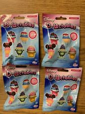 4 Pack New Disney D-Lectables Collection 1 Mystery Blind Bag