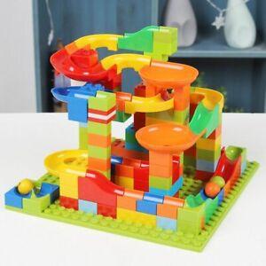 Building Blocks Marble Race Run Brick Set Educational Construction Kids Toy Gift