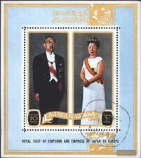 Ajman Bloque 305a (edición completa) usado 1971 Imperial hirohito en Europa