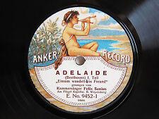 78rpm FELIX SENIUS sings Adelaide (Beethoven) - RARE ANKER RECORD E 9452