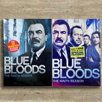 Blue Bloods Season  9 & 10 (DVD,9-Disc,Region 1)Fast shippingUS Seller