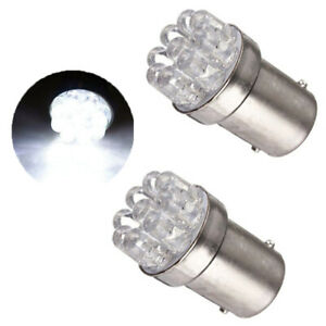 2x Car White 5W 12V 1156 BA15S 9 SMD LED Bulbs Lamp Turn Signal Backup Lights