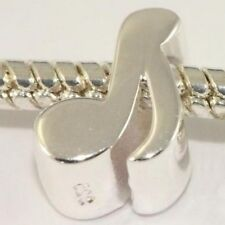 MUSIC NOTE - Quaver- Solid 925 sterling silver European charm bead