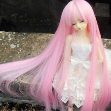 "7-8"" 1/4 BJD Wig pink Mini Super Dollfie hair MSD Long straight AOD DOD DK DZ AF"