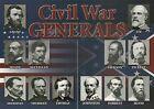 Civil War Union, Confederate Generals Ulysses S Grant Robert E. Lee etc Postcard