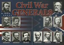 Civil War Union, Confederate Generals Ulysses S Grant Robert E. Lee etc Postcard