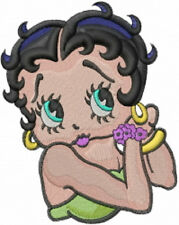 BETTY BOOP CUTENESS SET OF 2 BATH HAND TOWELS EMBROIDERED BY LAURA