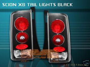 03-07 SCION XB X-B TAIL LIGHTS JDM BLACK 04 05 06