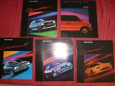 N° 2007bis 5 catalogue CHEVROLET 1985 Citation II/Cavalier/Chevette/Camaro/Astro