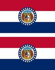 2 x Autocollant sticker voiture vinyl drapeau USA americain missouri