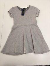 New! Polo Ralph Lauren Girls Cotton Short Sleeves Dress Size 6x Gray MSRP:$49.50