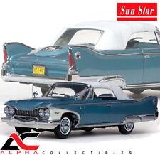 SUNSTAR SS-5412 1:18 1960 PLYMOUTH FURY CLOSED CONV BLUE/WHITE PLATINUM ED