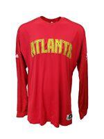 Atlanta Hawks Adidas NBA Long Sleeve On-Court Shooting Jersey, Men's Red nwot