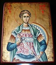 IKONE handgemalt Hl.Dimitrios /Demetrios Dimitri Icon Icone Ikona икона Димитрий