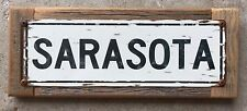 Sarasota Florida FL Tampa Gulf Coast Beach House Vintage Metal Sign Home Decor