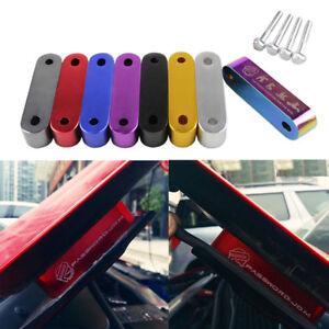 For 1988-2000 Honda Civic EG EK EM Aluminum Hood Risers Spacer Kit Air In Flow