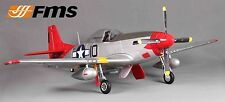 FMS P-51D Mustang V8 1.4m RTF with Retracts, Lights, Flaps - Red Tail no Tx/Rx/B