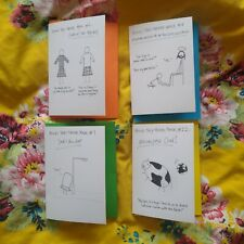 Pack Of 4 Funny Movie Pun Greeting Cards - All Occasions, Blank Inside