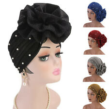 Muslim Women Flower Cancer Chemo Hat Hijab Hair Loss Head Scarf Turban Cap