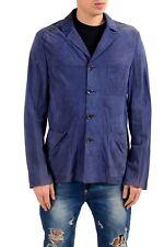 Malo Men's 100% Suede Leather Four Button Blazer Sport Coat US 40 IT 50