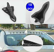 10X EVO style Carbon Water Dipping Shark Fin Vortex Generator Spoiler Tip Euro