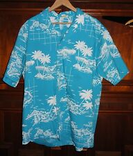 """"""" Jade Fashions"""" Made in Hawaiian Men's Shirt - X-LARGE - Hawaiian Island Maps"""