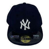 New Era New York Yankees MLB 59Fifty Authentic Youth Baseball Hat Cap 6 1/2 NWOT