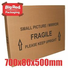 10 x Small Picture Mirror Moving Box 700x80x500mm Cardboard Carton Removalist