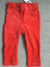 GAP - RED VELVET JEGGINGS WITH MATCHING RIVETS AND BACK POCKETS - 12-18m BNWT