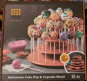Halloween Sweet Creations Cake Pop or Cupcake Stand Orange by Good Cook NEW