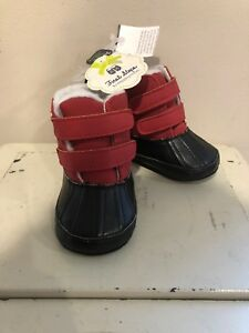 First Steps By Stepping  Stones Infant boots Shoes 9-12 Months Black & Red