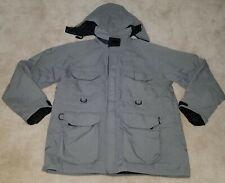 Cabela's Gray Coat Men's XXL Tall Gore-Tex Full-Zip Detachable Hood Nylon